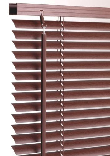 Walnut PVC Wood Effect Venetian Blind